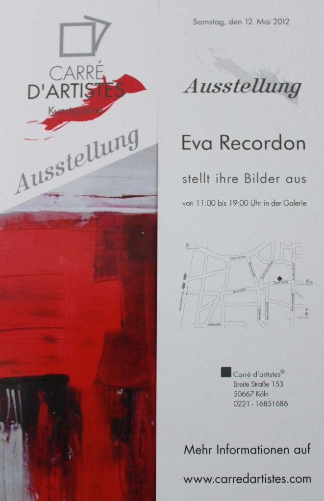 flyer dédicace eva recordon cologne